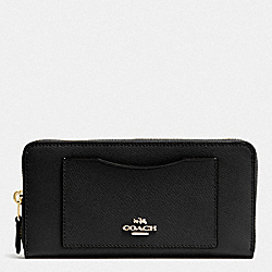 ACCORDION ZIP WALLET - IM/BLACK - COACH 54007