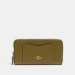 ACCORDION ZIP WALLET - IM/CITRON - COACH 54007