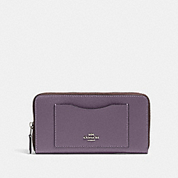 ACCORDION ZIP WALLET - SV/DUSTY LAVENDER - COACH 54007