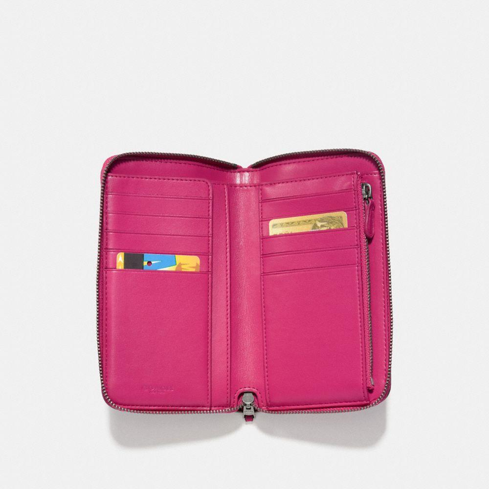 Coach Medium Zip Around Wallet With Willow Floral Print Alternate View 1