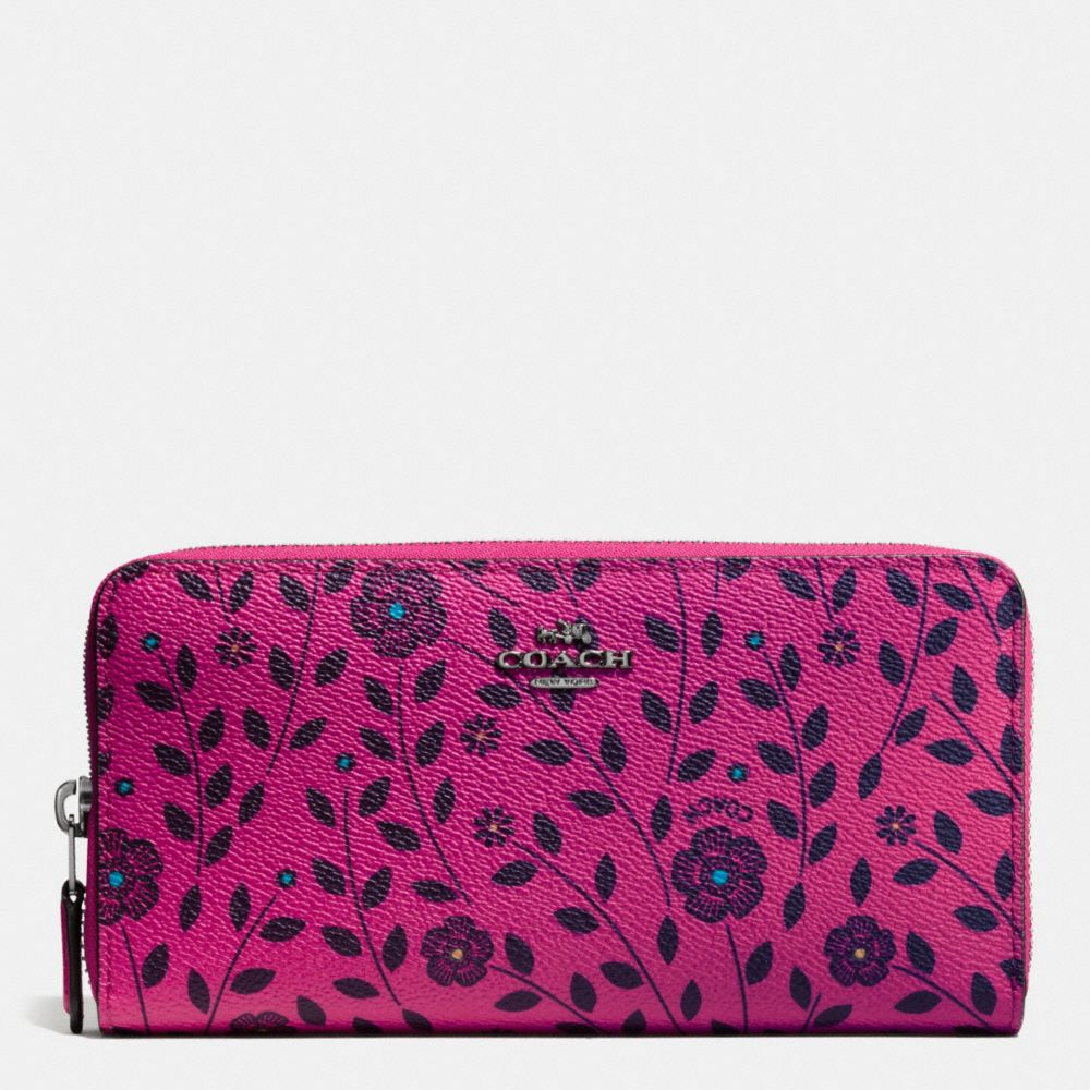 Accordion Zip Wallet in Willow Floral Print Canvas