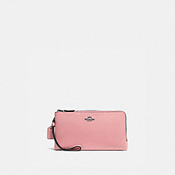 DOUBLE ZIP WALLET - V5/VINTAGE PINK - COACH 54052
