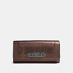 COACH SWAGGER SLIM ENVELOPE WALLET - BRONZE/DARK GUNMETAL - COACH 54062