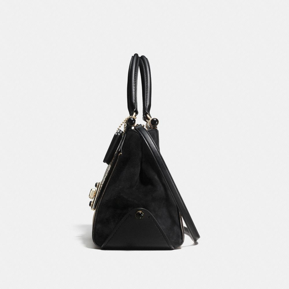 DRIFTER CARRYALL IN COLORBLOCK EXOTIC EMBOSSED LEATHER - Alternate View