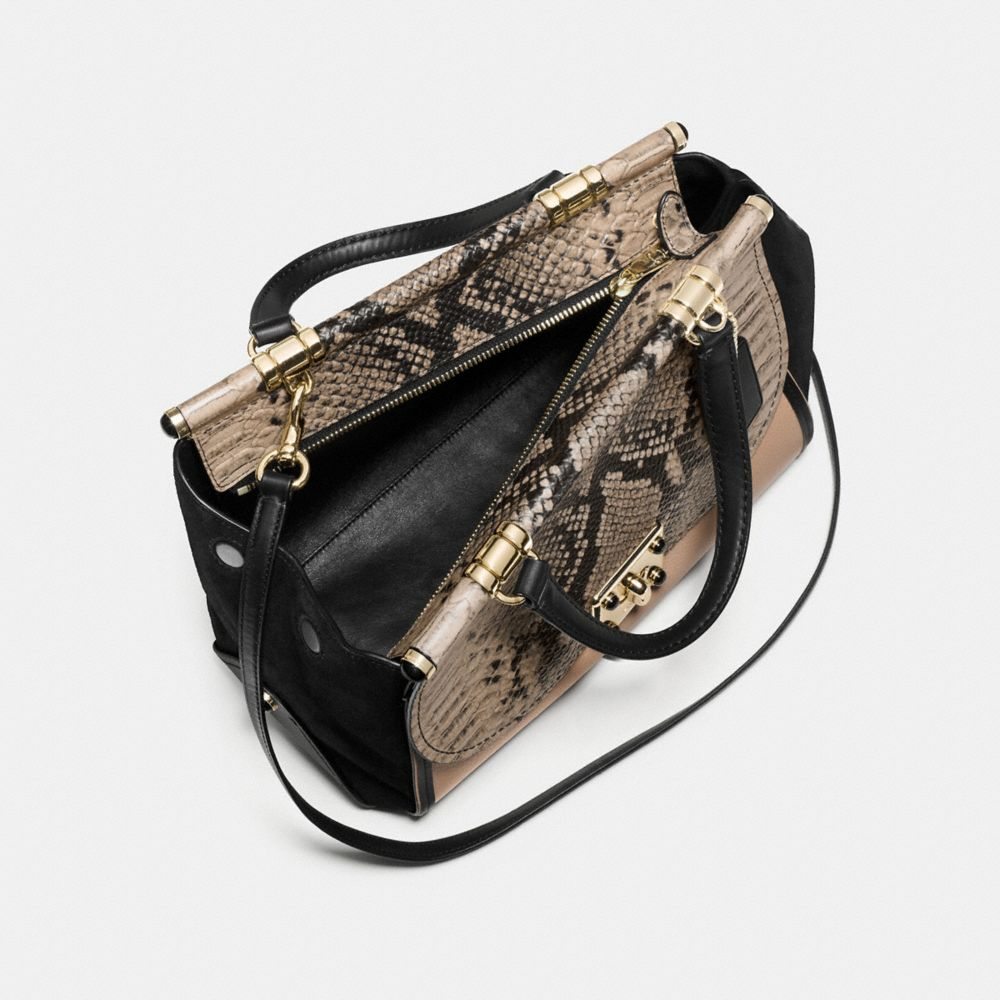 Drifter Carryall in Colorblock Exotic Embossed Leather - Alternate View A2