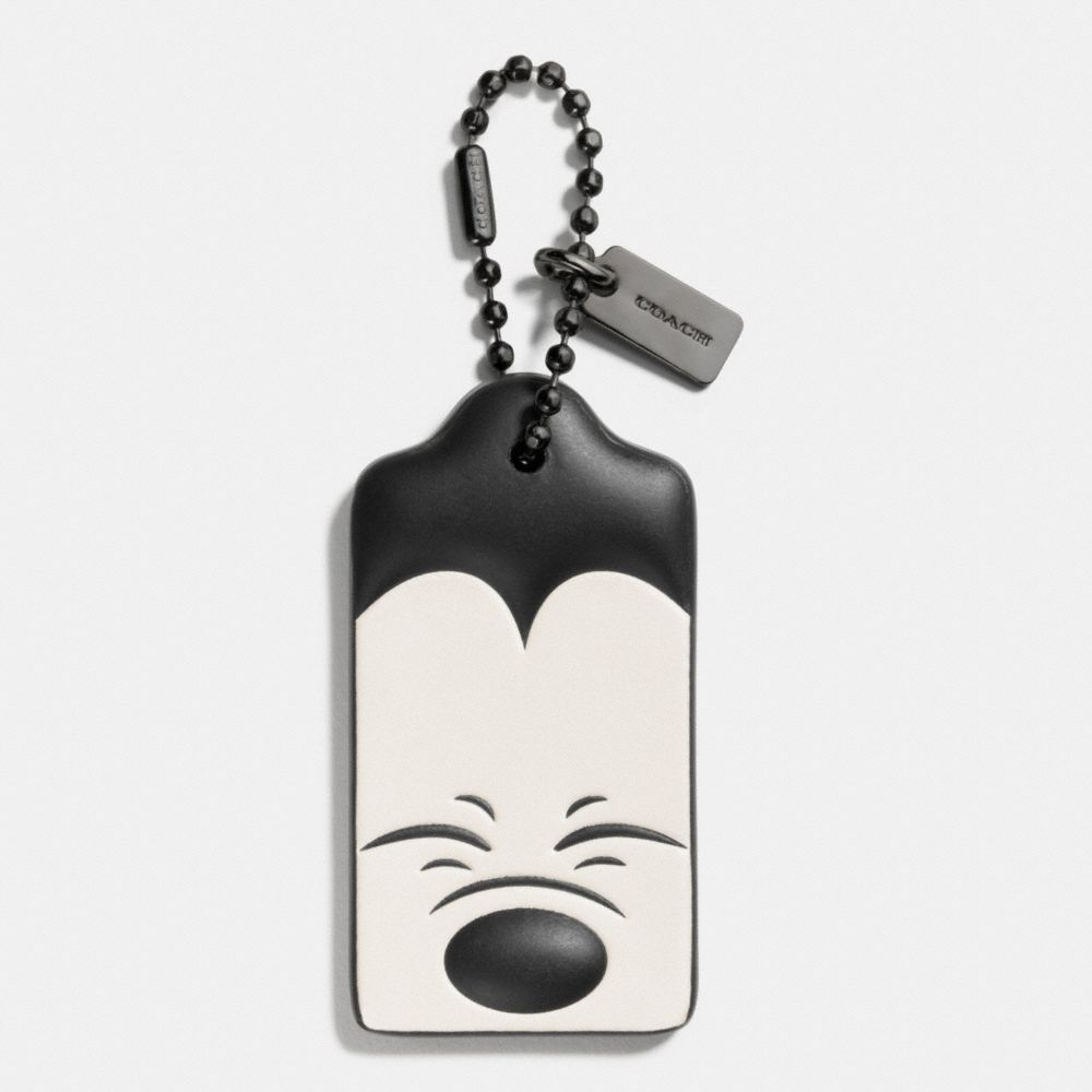 SQUINTING MICKEY HANGTAG IN GLOVETANNED LEATHER - Alternate View