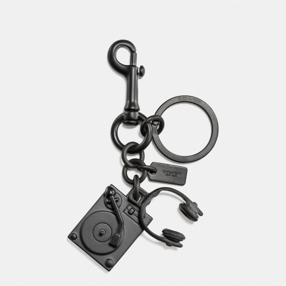 Turntable and Headphones Key Ring