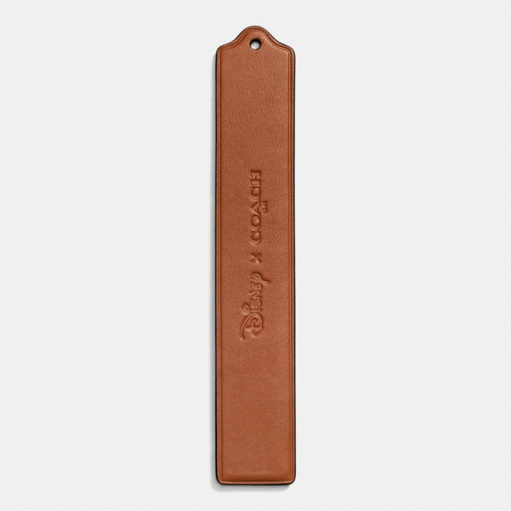 Coach Mickey Wide Eyes Bookmark in Glovetanned Leather Alternate View 1
