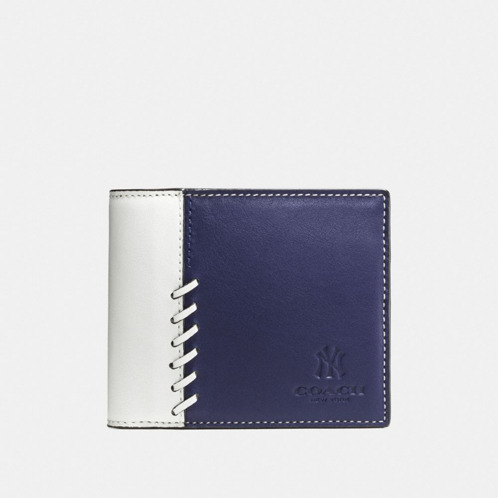 MLB COMPACT ID WALLET IN RIP AND REPAIR LEATHER - Alternate View