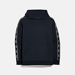 HORSE AND CARRIAGE TAPE HOODIE - NAVY - COACH 5419
