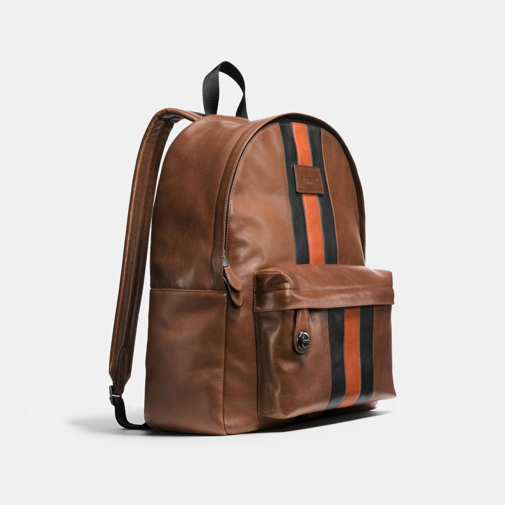 Modern Varsity Campus Backpack in Sport Calf Leather - Alternate View A2