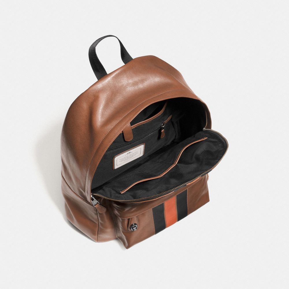 Modern Varsity Campus Backpack in Sport Calf Leather - Alternate View A3
