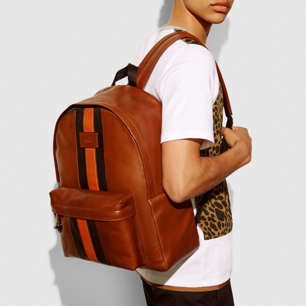 MODERN VARSITY CAMPUS BACKPACK IN SPORT CALF LEATHER - Alternate View A4