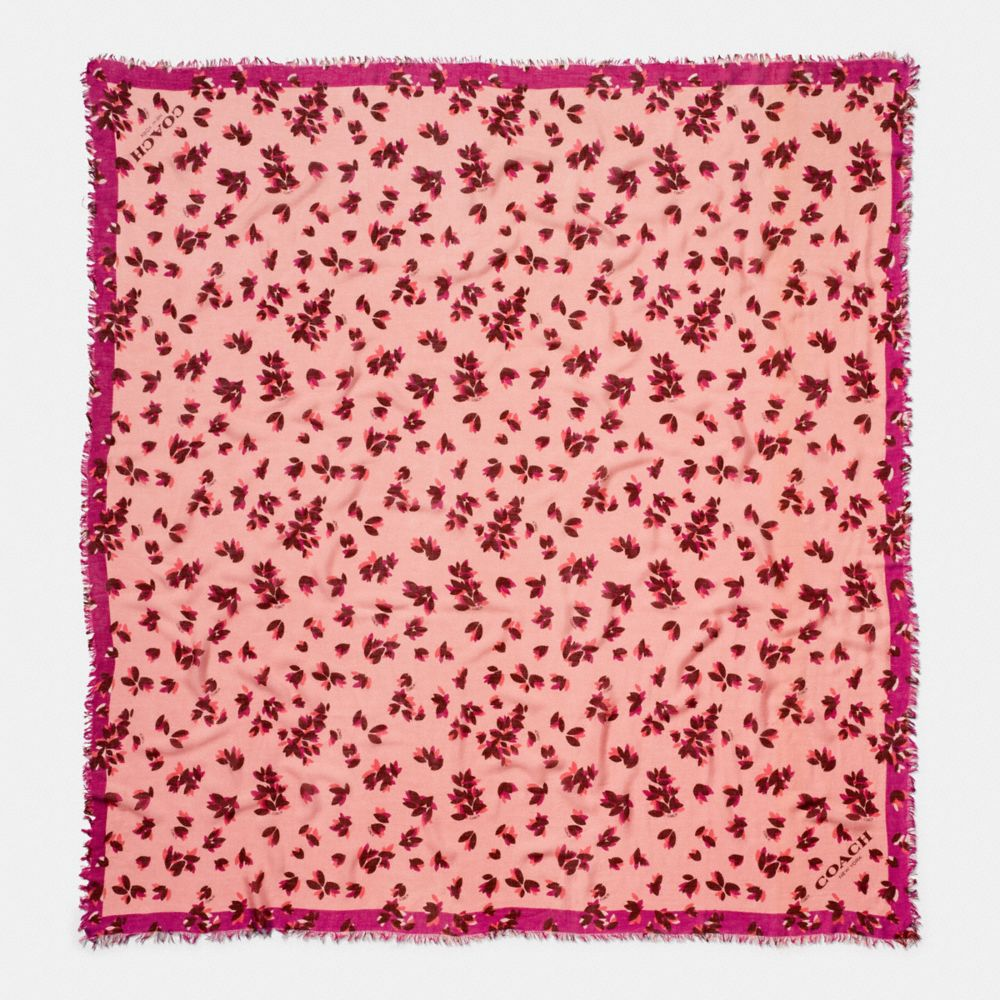 Scattered Leaves Oversized Square Scarf