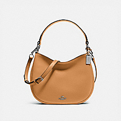 MAE CROSSBODY - SILVER/LIGHT SADDLE - COACH 54446