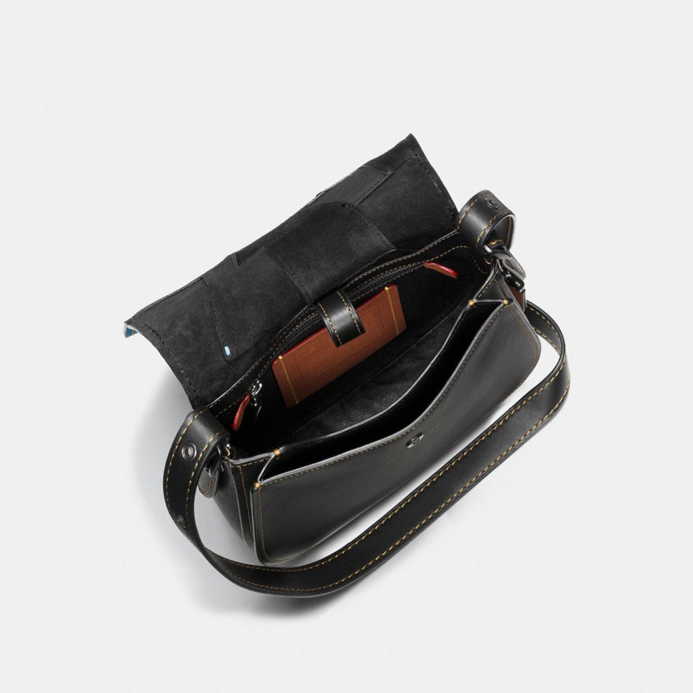 Varsity Patchwork Saddle Bag 23 in Glovetanned Leather - Alternate View A3