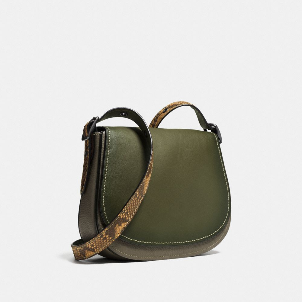 SADDLE BAG 23 IN COLORBLOCK PYTHON - Alternate View A2