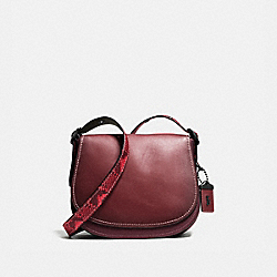 SADDLE 23 WITH COLORBLOCK PYTHON DETAIL - BORDEAUX/BLACK COPPER - COACH 54547
