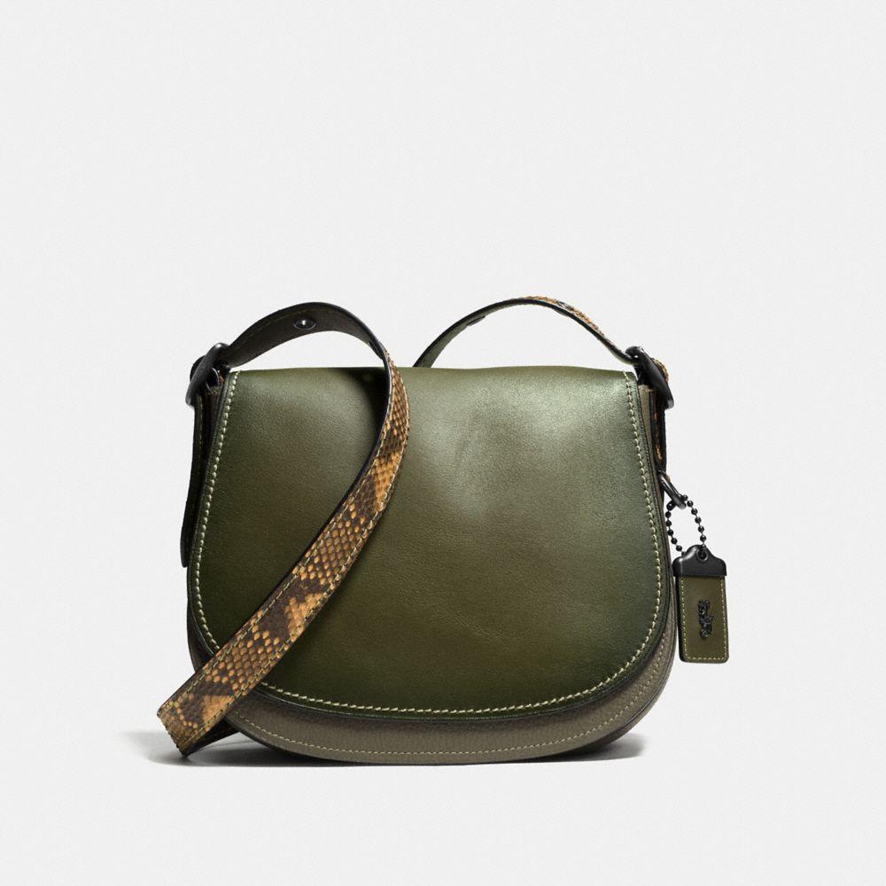 Saddle Bag 23 in Colorblock Python