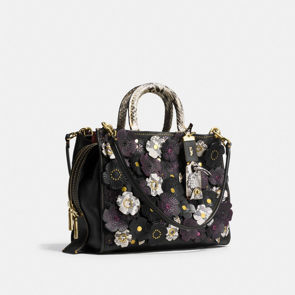 Coach Rogue With Snakeskin Tea Rose Alternate View 2