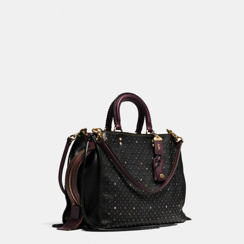 Coach Whiplash Rivets Rogue Bag 36 in Pebble Leather Alternate View 2