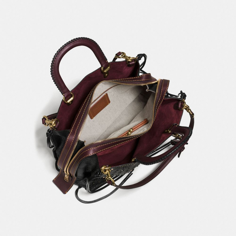 WHIPLASH RIVETS ROGUE BAG 36 IN PEBBLE LEATHER - Alternate View A3