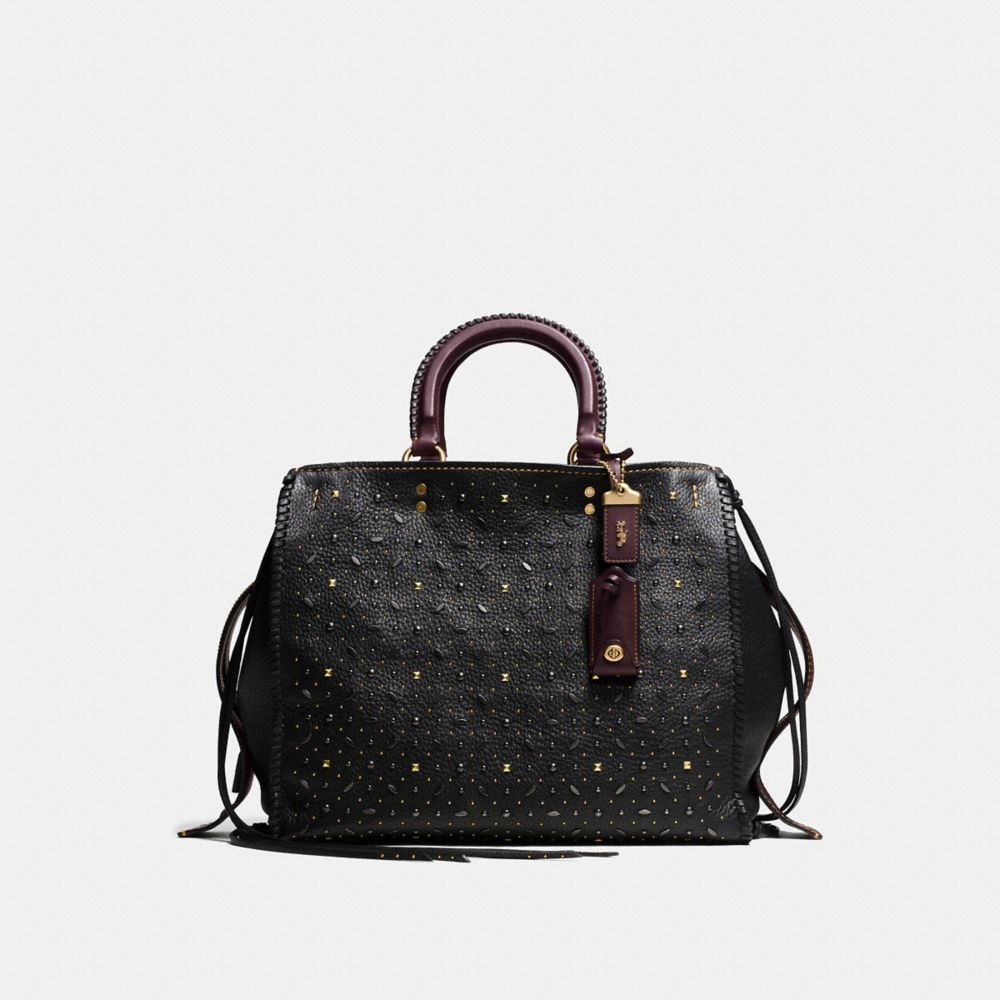 Whiplash Rivets Rogue Bag 36 in Pebble Leather