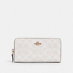 ACCORDION ZIP WALLET IN SIGNATURE CANVAS - IM/CHALK/GLACIERWHITE - COACH 54632
