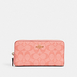 ACCORDION ZIP WALLET IN SIGNATURE CANVAS - IM/CANDY PINK - COACH 54632