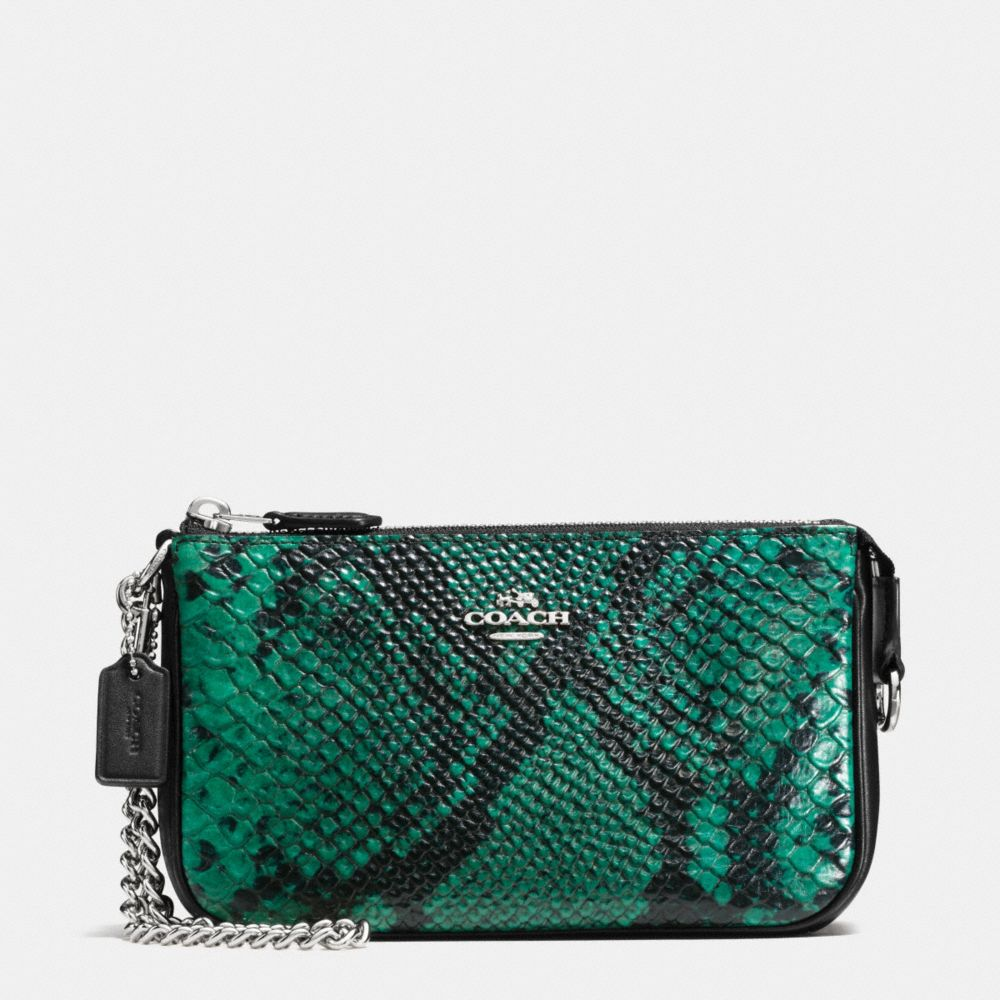 Nolita Wristlet 19 in Python Embossed Leather