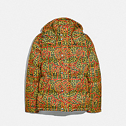 DISNEY MICKEY MOUSE X KEITH HARING PUFFER - YELLOW MULTICOLOR - COACH 5472
