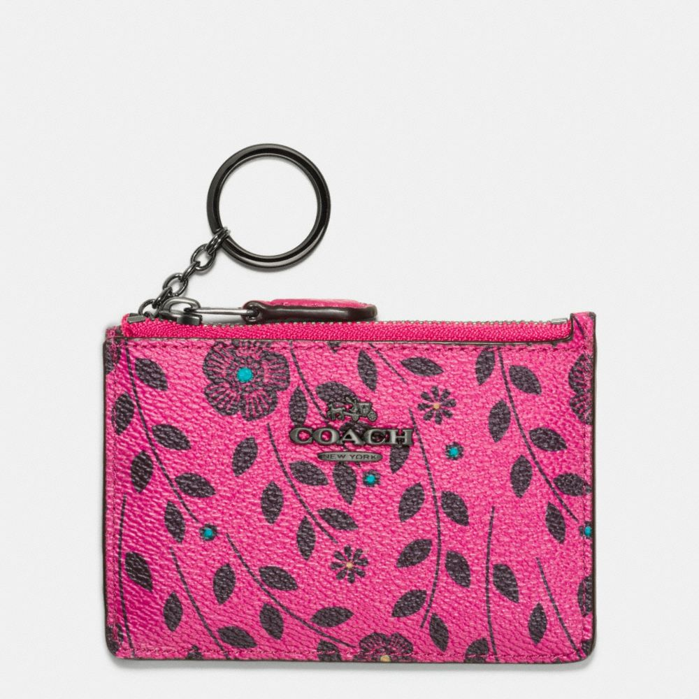 Coach Mini Skinny in Willow Floral Print Canvas