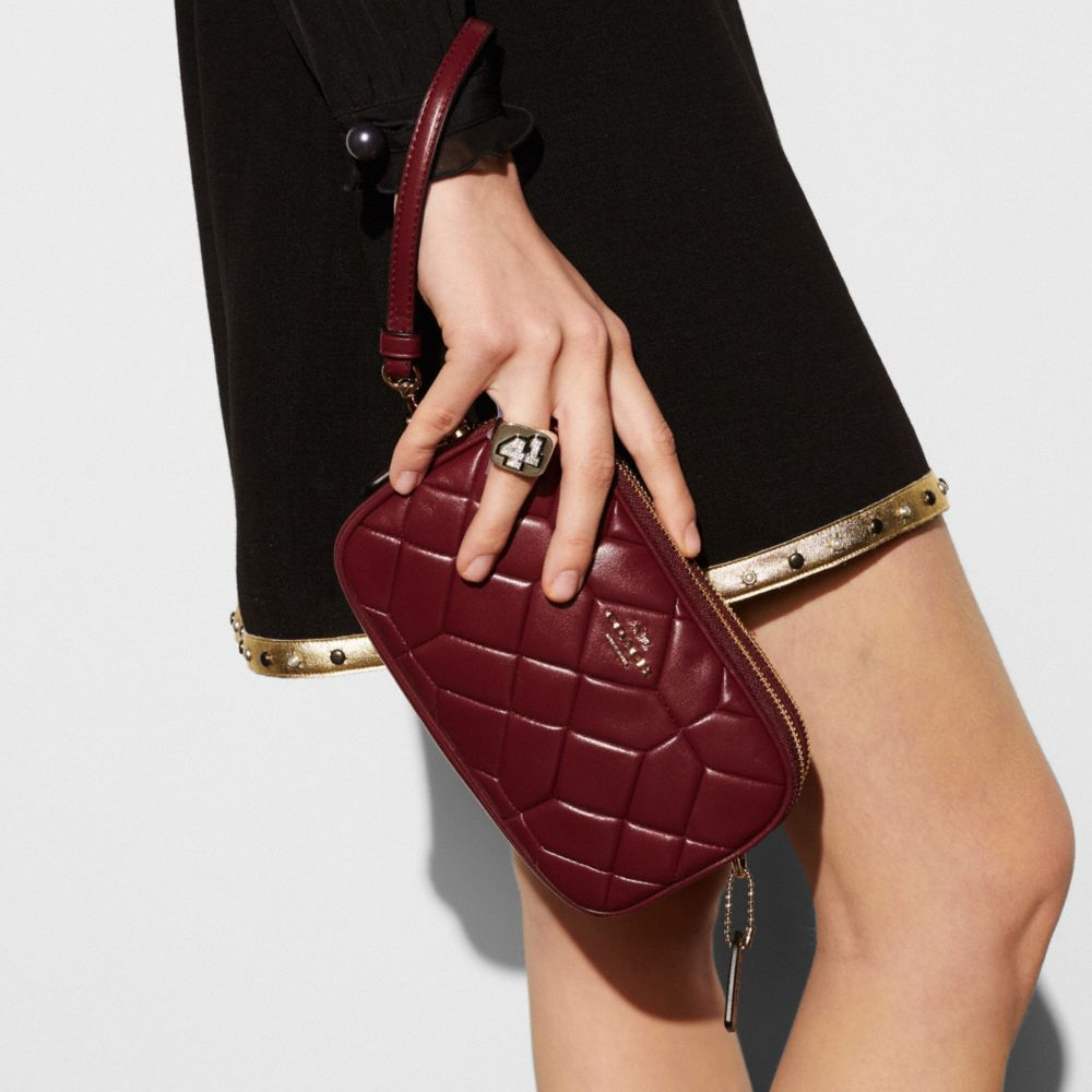 Canyon Quilt Crossbody Clutch in Calf Leather - Alternate View A2