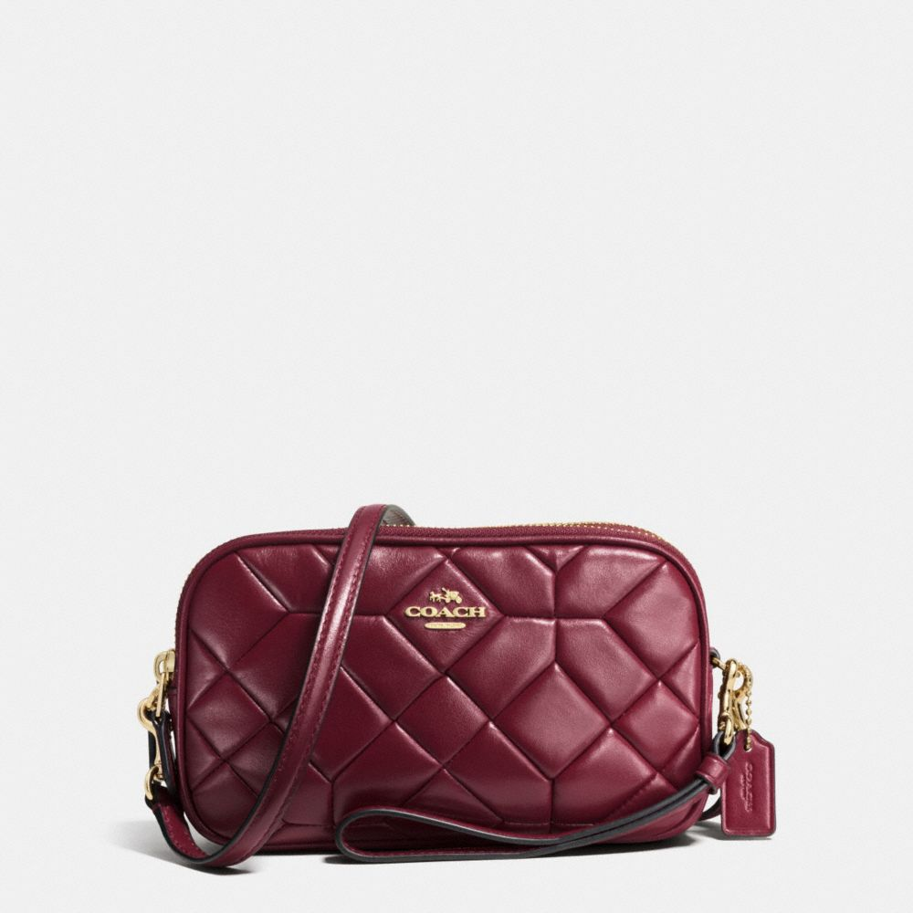 CANYON QUILT CROSSBODY CLUTCH IN CALF LEATHER - Alternate View