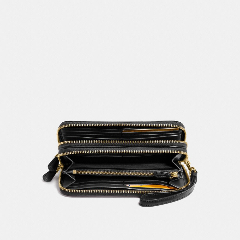 DOUBLE ACCORDION ZIP WALLET IN SMOOTH LEATHER - Alternate View