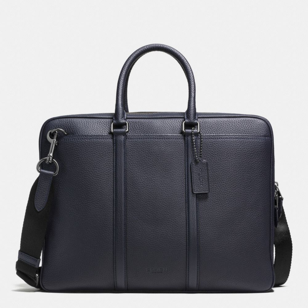 Coach Metropolitan Brief in Pebble Leather
