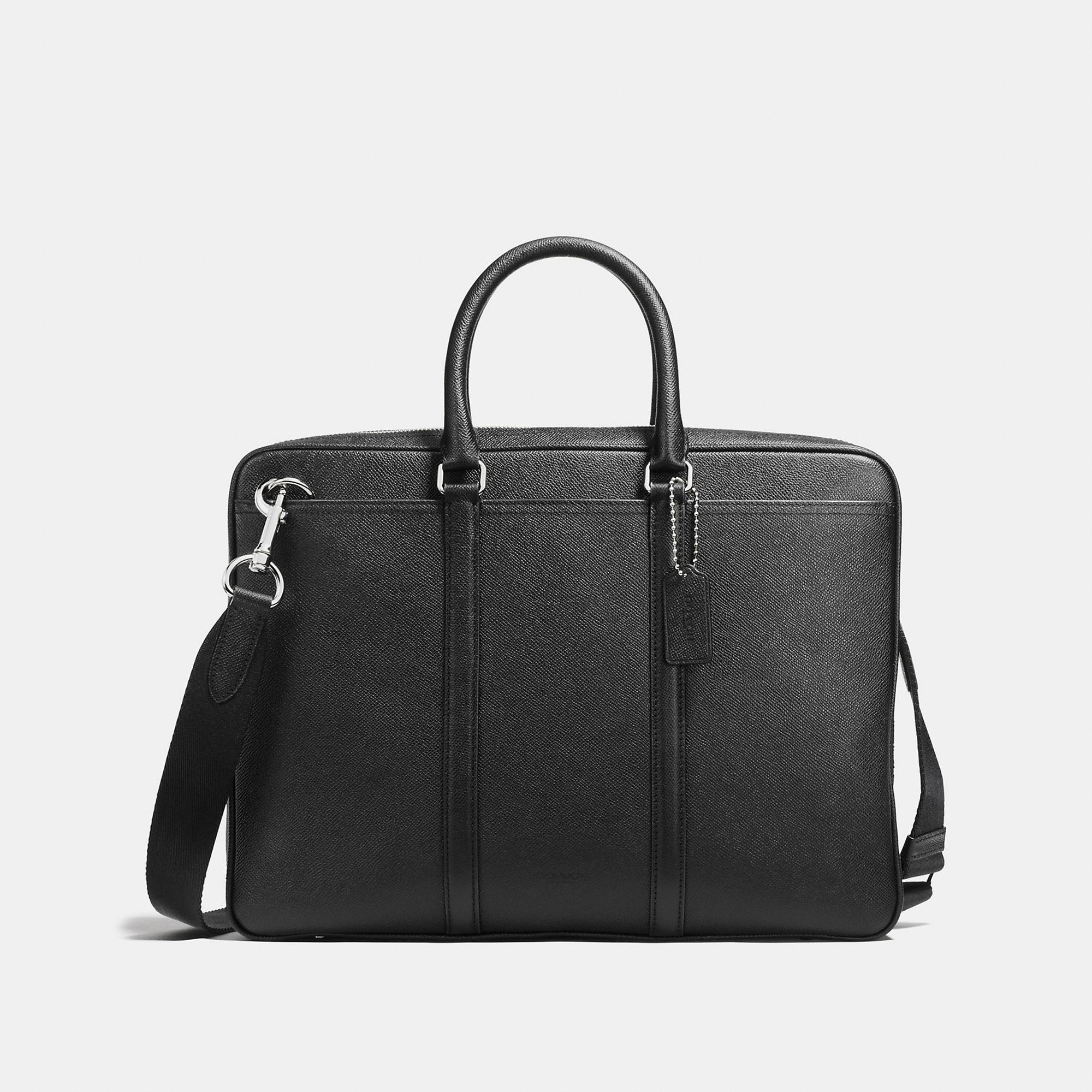 Coach Metropolitan Brief In Crossgrain Leather