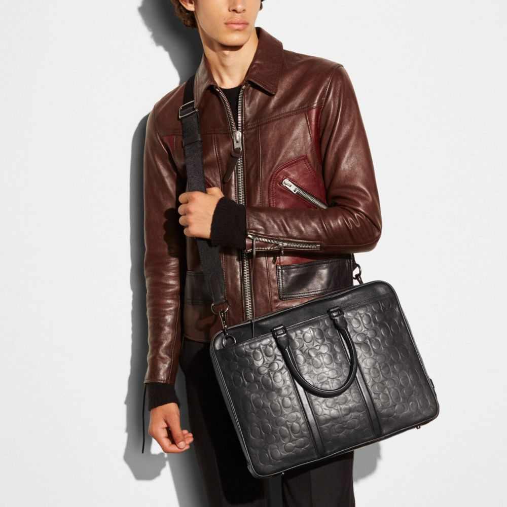 Coach Metropolitan Brief in Signature Sport Calf Leather Alternate View 3