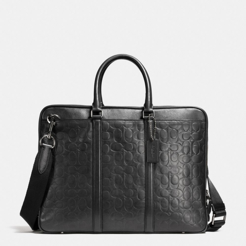 Coach Metropolitan Brief in Signature Sport Calf Leather