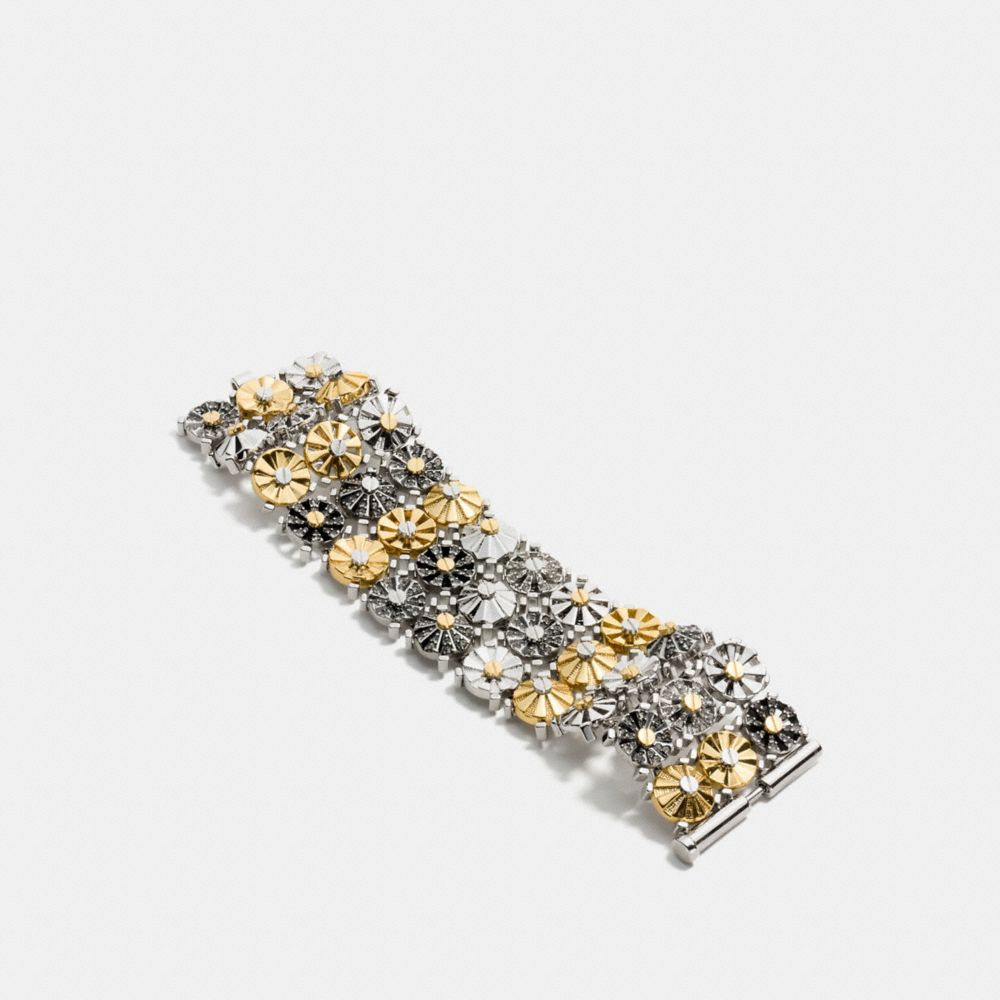 Wide Daisy Rivet Bracelet