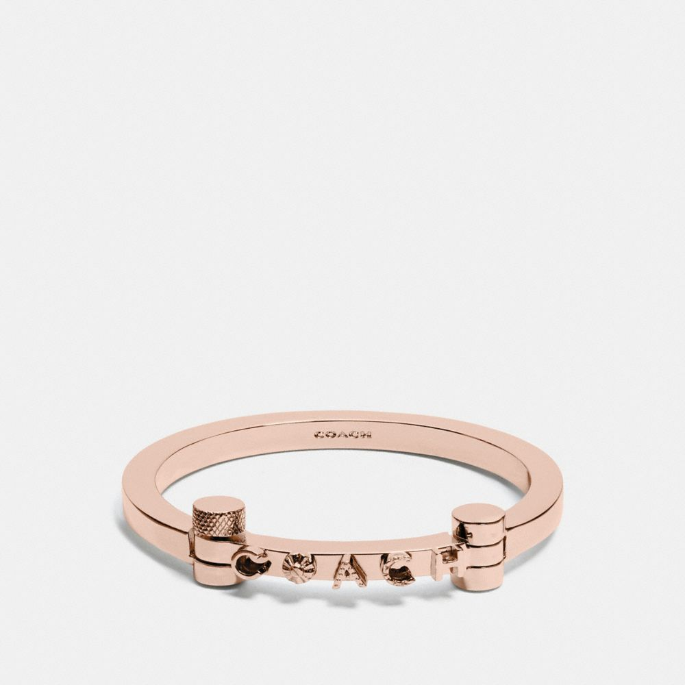 COACH METAL HINGED BANGLE