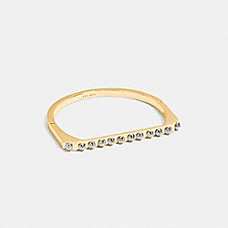 DAISY RIVET SIDE HINGED BANGLE - SILVER/GOLD - COACH 54969
