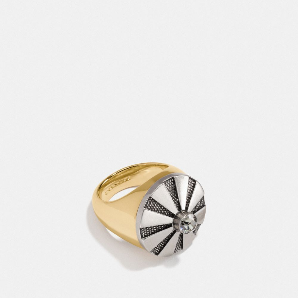 LARGE DAISY RIVET COCKTAIL RING - Alternate View