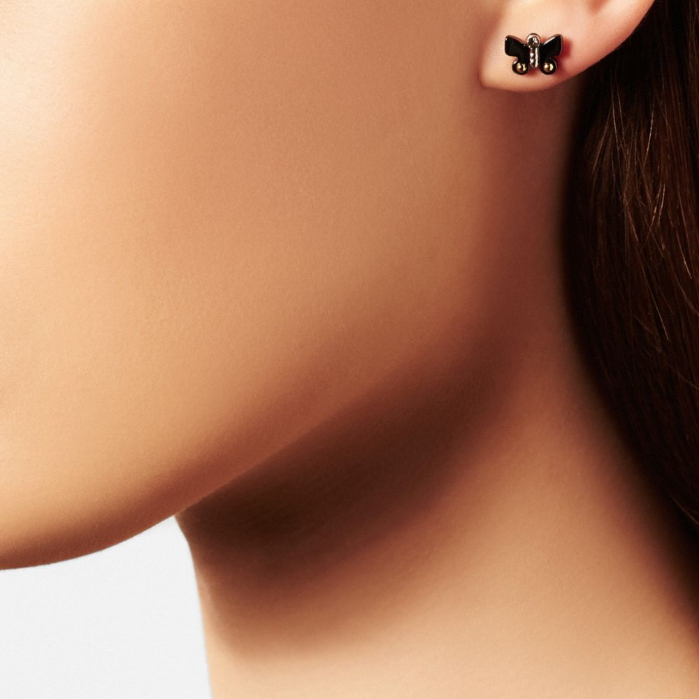 Butterfly Stud Earring Set - Alternate View A1