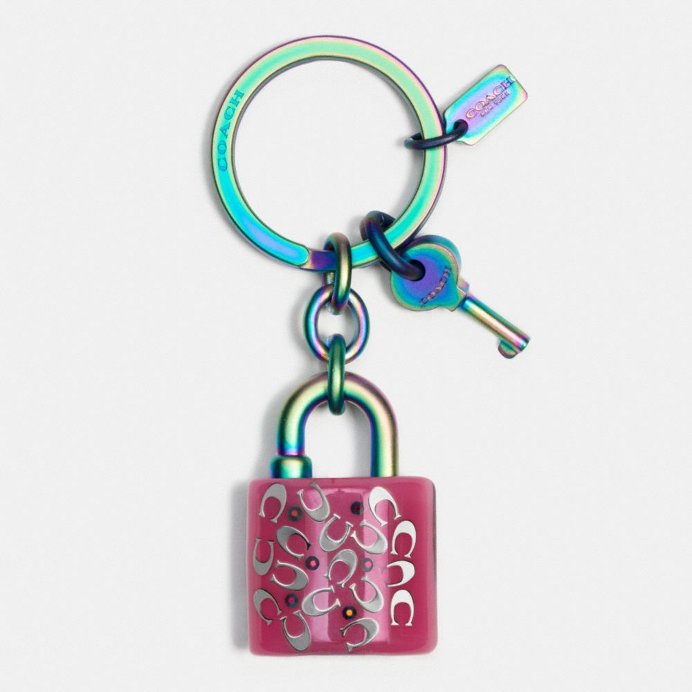 ANODIZED LOCK AND KEY KEY RING