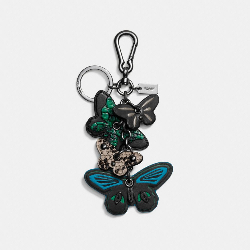CLUSTERED BUTTERFLY BAG CHARM - Alternate View
