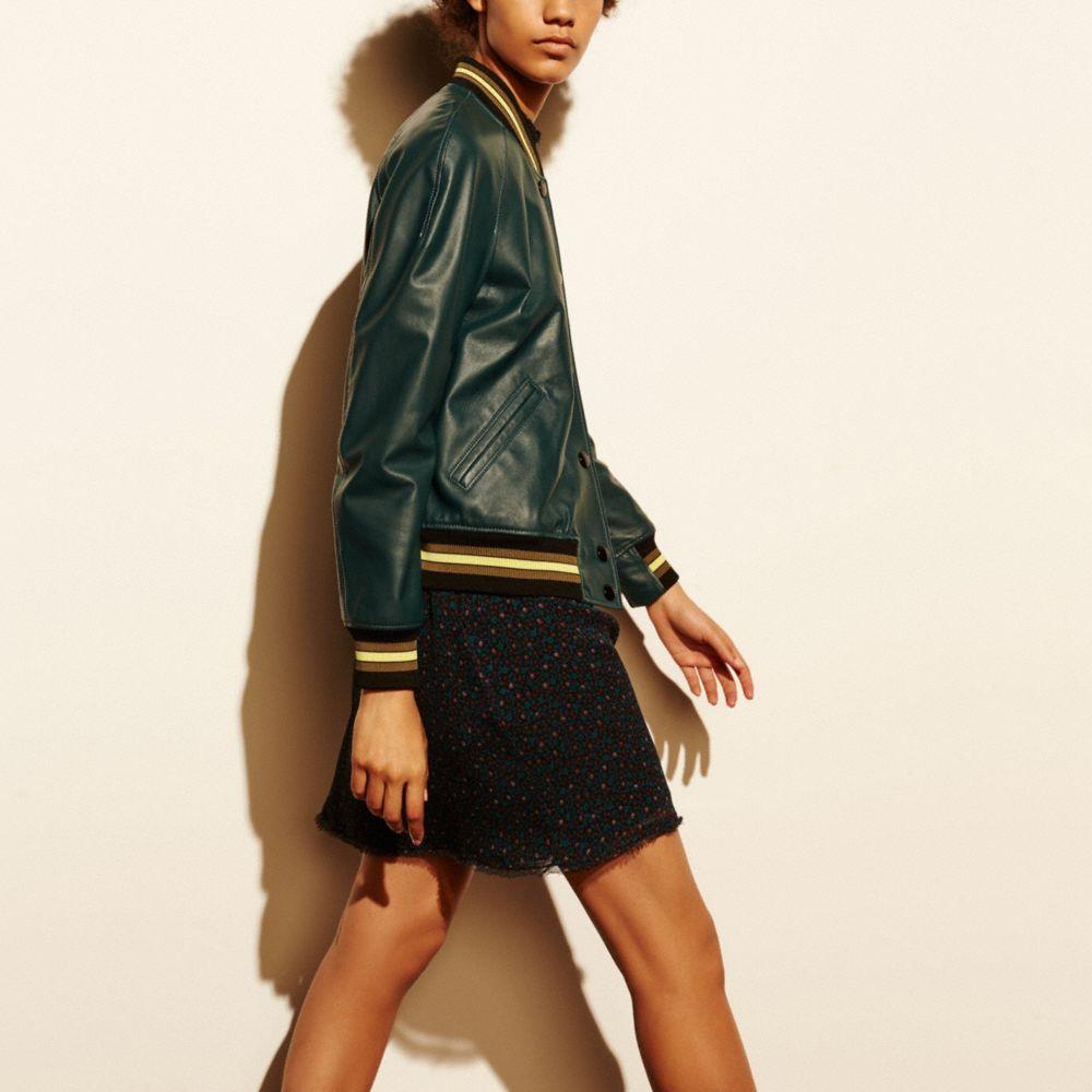 Leather Rexy Varsity Jacket - Alternate View M