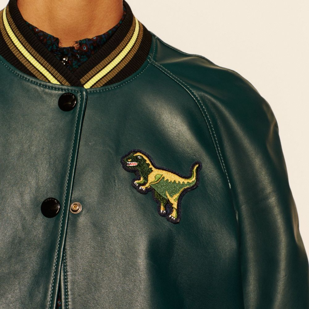 Leather Rexy Varsity Jacket - Alternate View M2