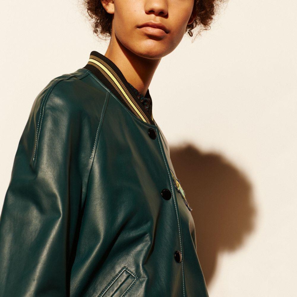 Leather Rexy Varsity Jacket - Alternate View M3