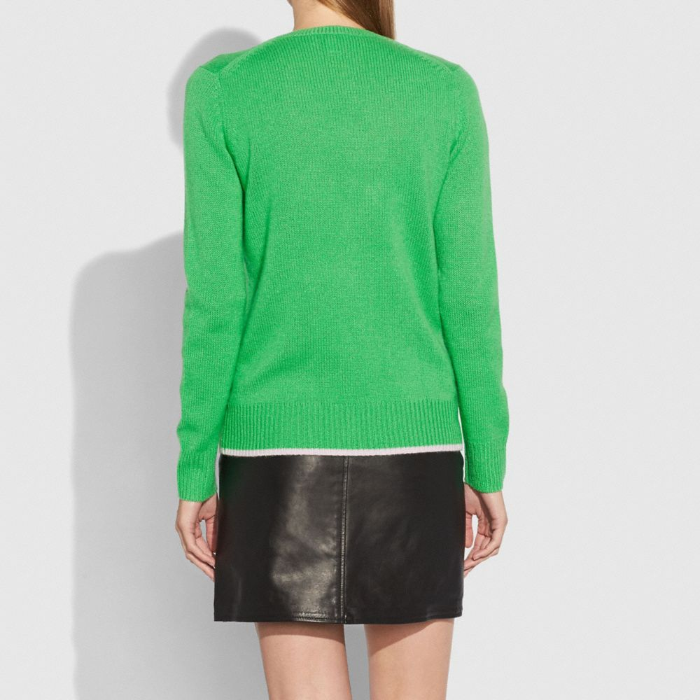 Rexy Intarsia Sweater - Alternate View M1